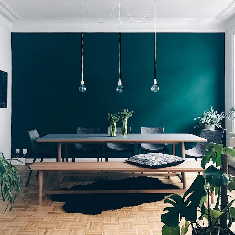 Accent Walls Whether Big Or Small Can Make A Major Impact On A Room S Style Here Are A Few In Dining Room Design Wood Dining Room Table My Scandinavian Home #teal #accent #wall #living #room