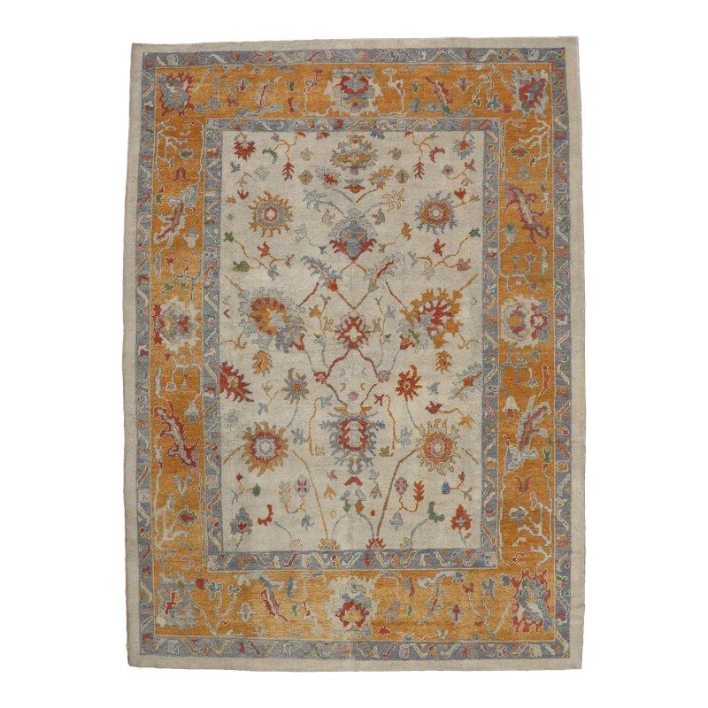 contemporary turkish oushak rug with tribal boho chic style 10 x 15 1 rugs on carpet boho on boho chic kitchen rugs id=59887