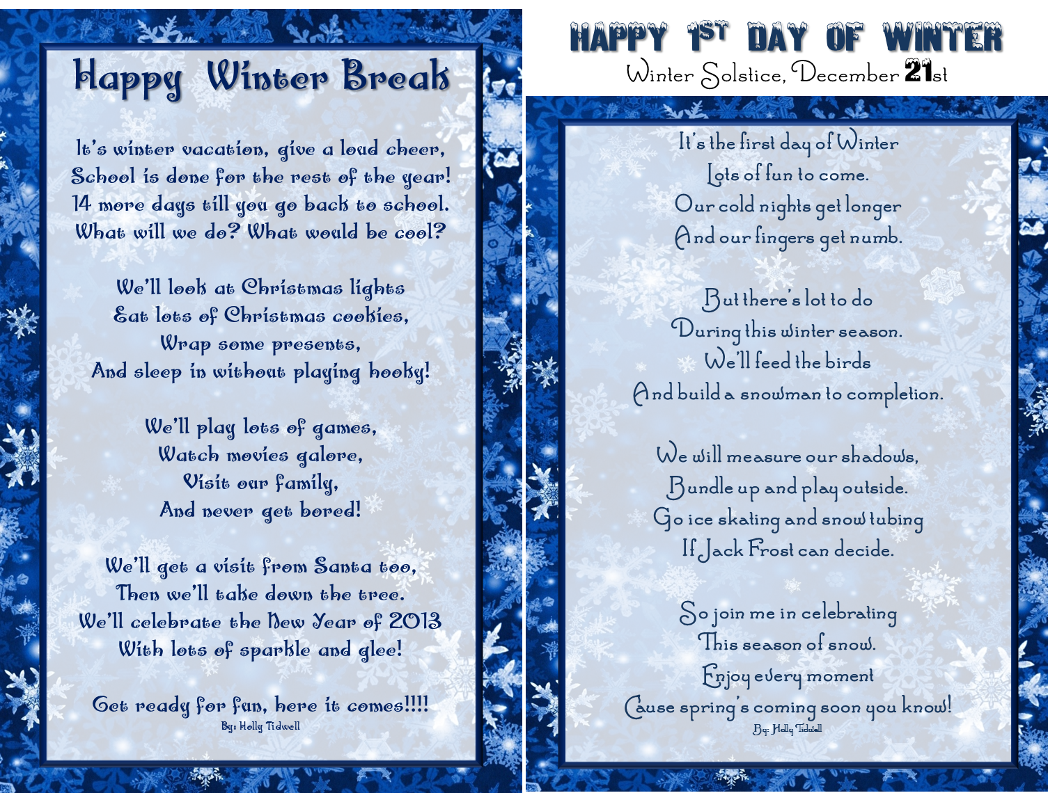 winter break vacation poem for kids st day of winter solstice winter break vacation poem for kids 1st day of winter solstice poem for