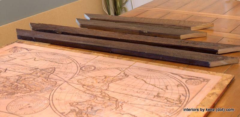 DIY Restoration Hardware Map & Frame | Map frame, Woods and Tutorials