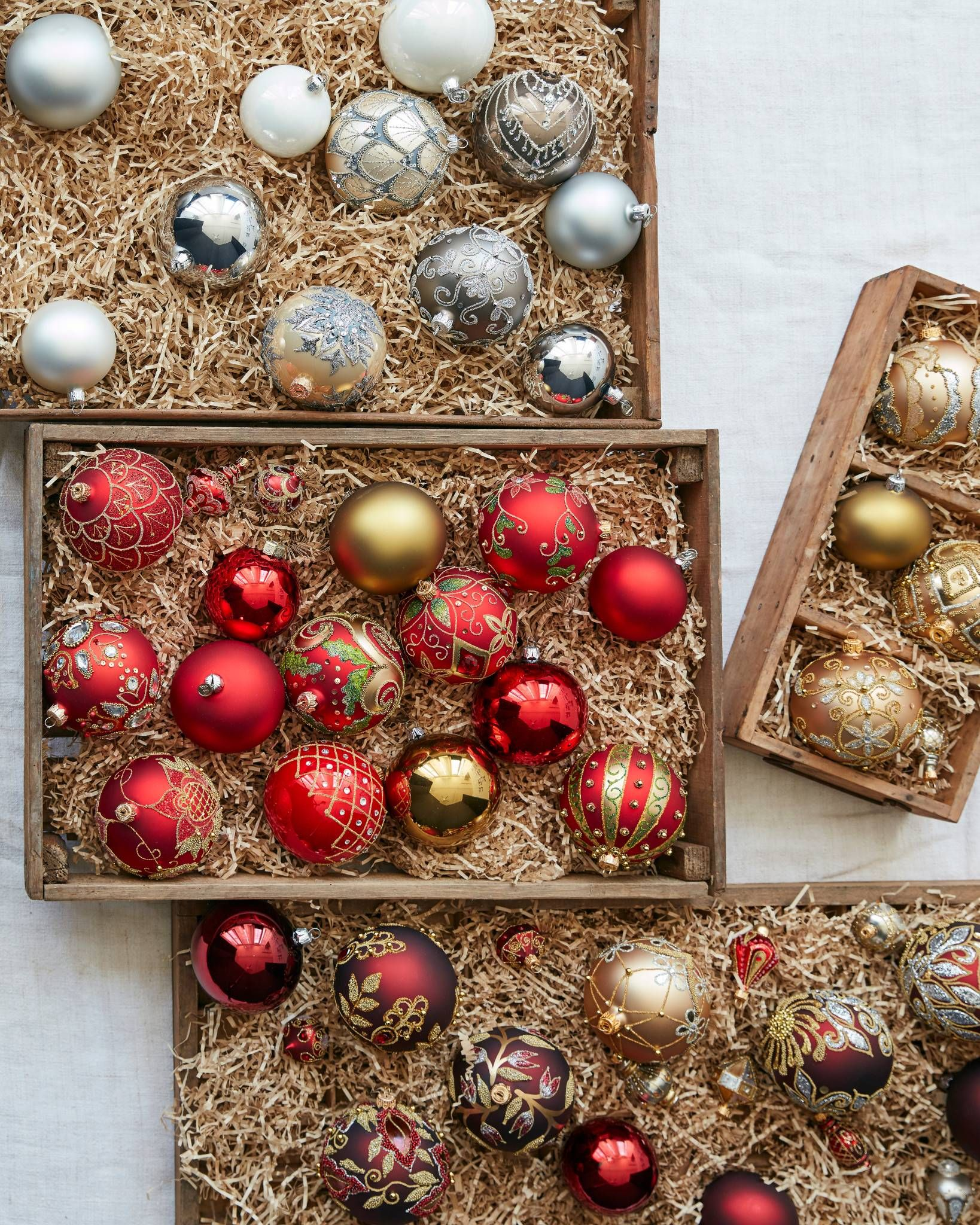 Decorated Glass Ball Christmas Ornament Sets Balsam Hill Ornament Set Christmas Ornament Sets Glass Ball Ornaments