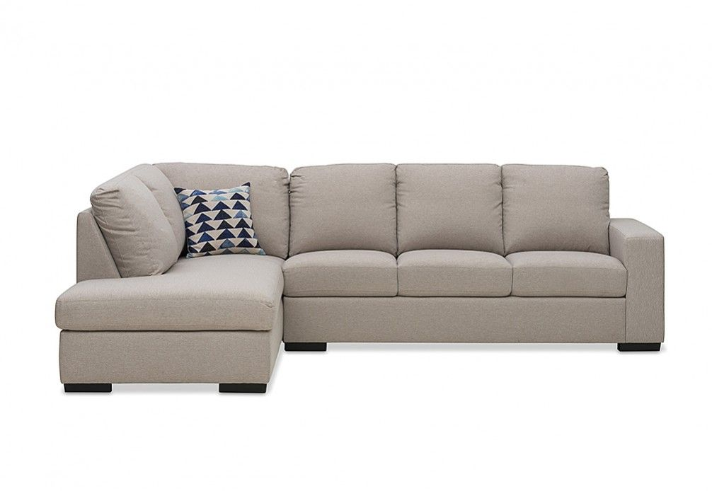 Nixon Fabric 4 Seater Sofa with Chaise | Super Amart | new house ...