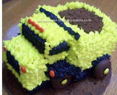 Easy DIY Dump Truck Birthday Cake Truck birthday cakes Dump truck