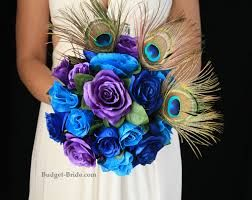 Image result for peacock colored wedding flowers