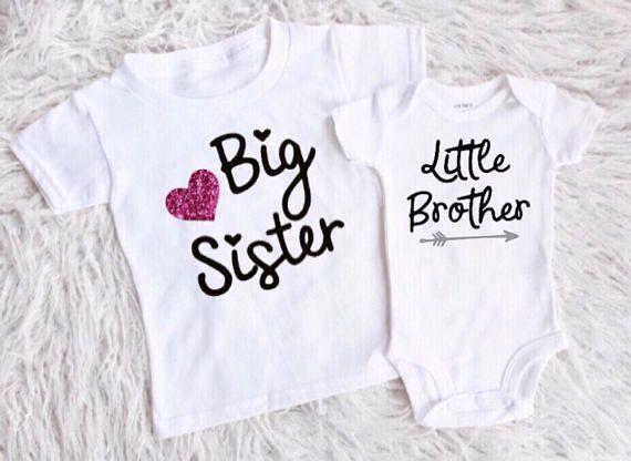 862497b54 Big sister little brother shirts matching big sis lil bro new baby ...