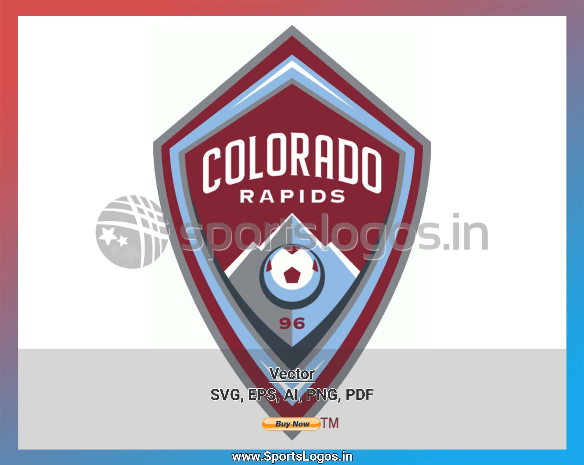 Colorado Rapids Soccer Sports Vector Svg Logo In 5 Formats Spln000984 Sports Logos Embroidery Vector For Nfl Nba Nhl Mlb Milb And More Colorado Rapids Sport Soccer Embroidery Logo