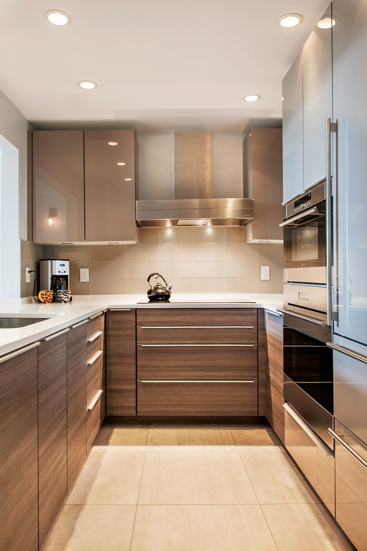 50 Unique U Shaped Kitchens And Tips You Can Use From Them Kitchen Design Modern Small Small Modern Kitchens Kitchen Cabinet Design Modern kitchen ideas for small kitchens