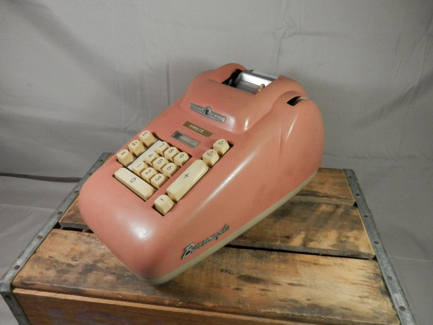 Vintage Pink Adding Machine Burroughs Ten Key Working Electric Calculator Vintage Pink Vintage Etsy Vintage