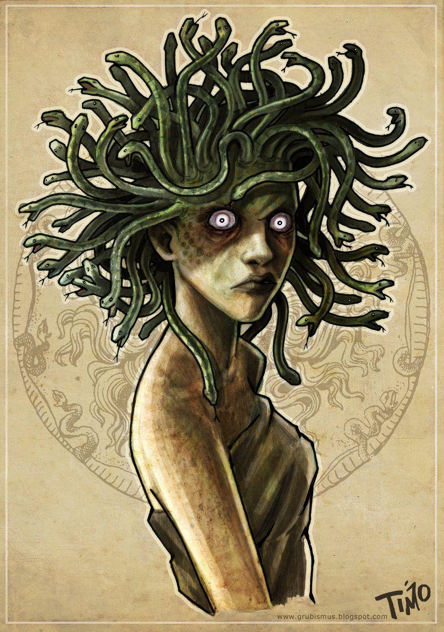 Medusa By Tmoegee On Deviantart Medusa Artwork Medusa Gorgon Medusa Art