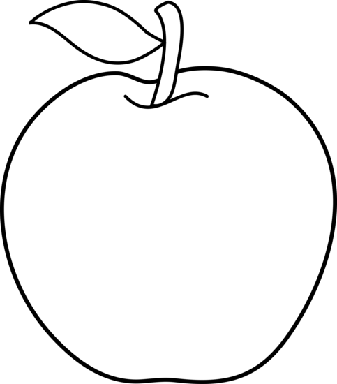 Black And White Apple Outline Apple Clip Art Apple Outline Apple Images