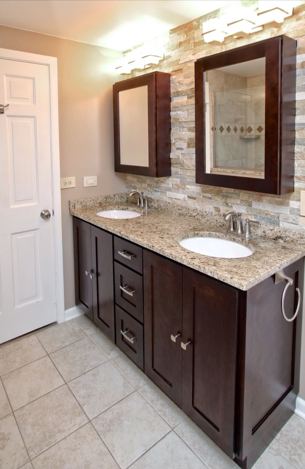 Espresso Shaker Bathroom Like The Wall Wood Bathroom Vanity Brown Bathroom Vanity Kitchen Cabinets In Bathroom