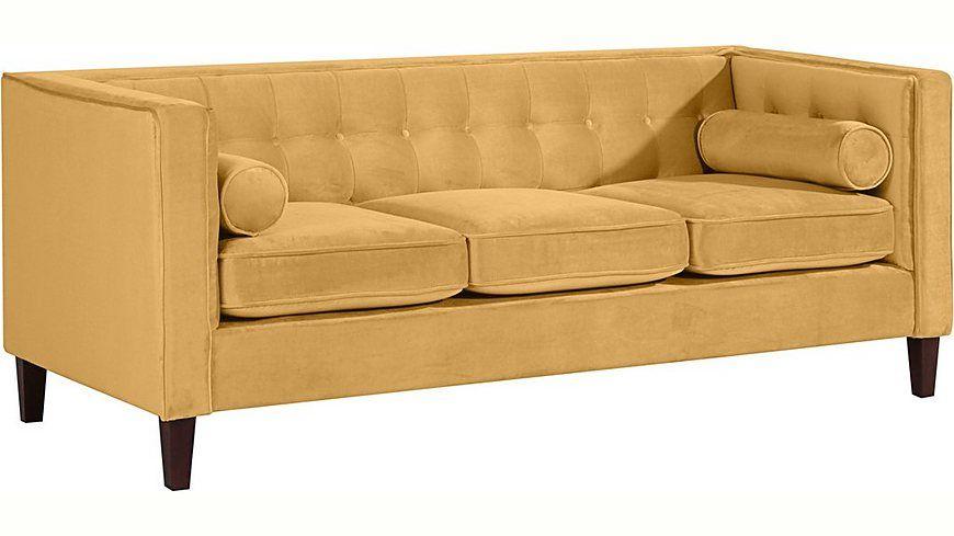 Max Winzer® 3-Sitzer Cocktailsofa »Joko«, mit Holzfüßen, Breite 215 - wohnzimmer orange beige