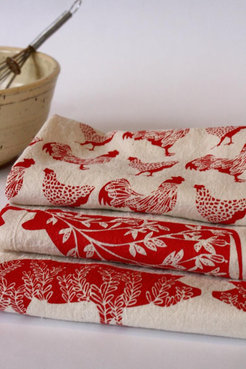 Asciugamani Da Cucina Mano Asciugamani Stampati Rosso