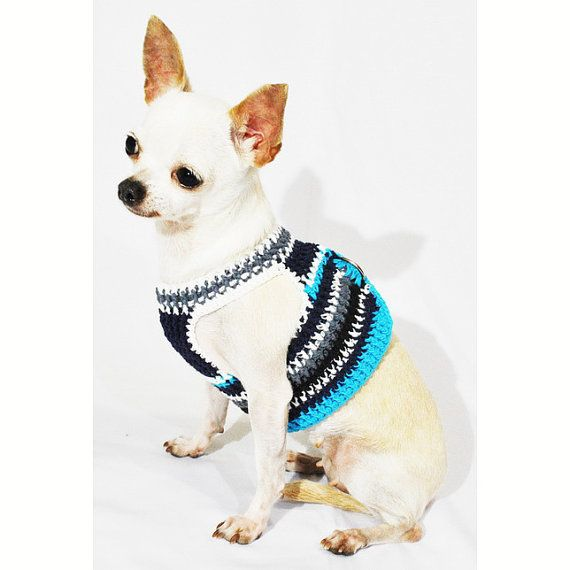 Dog Harness With Hook And Loop Fastener Casual Blue Turquoise