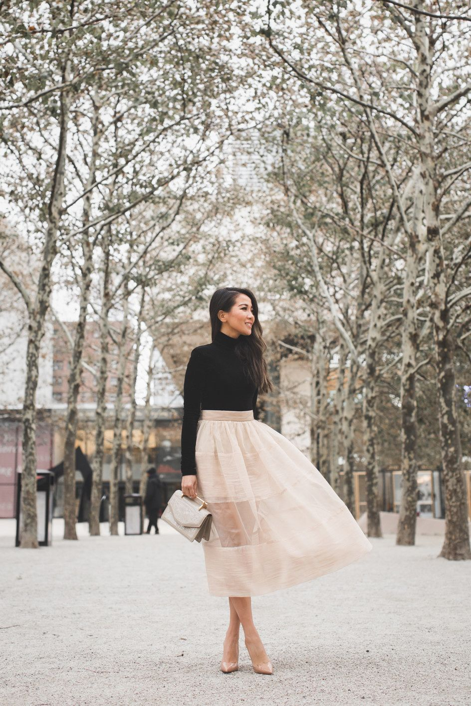 773cf56b117f Holiday dressing is in full swing and I couldn t be happier! A sheer skirt