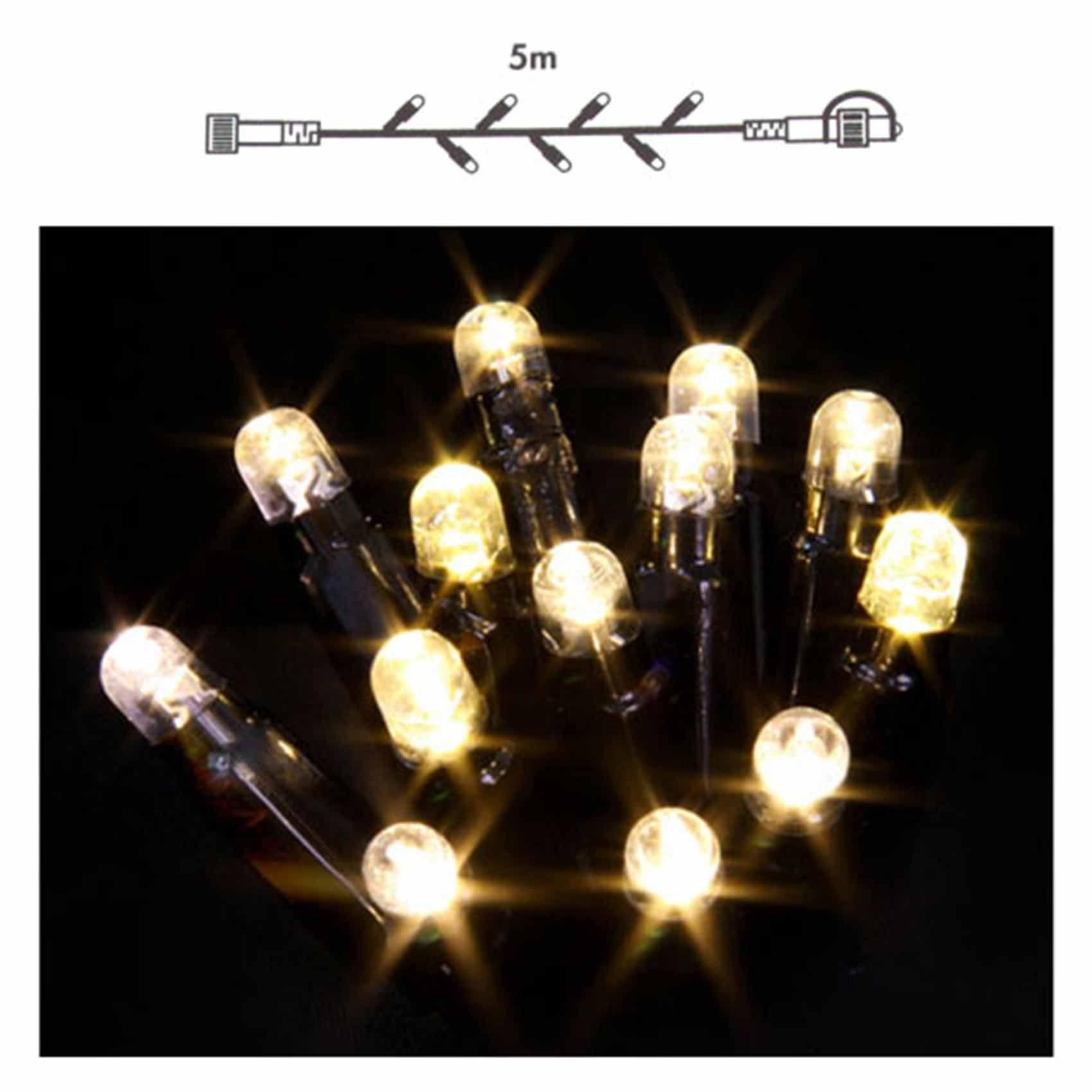 luca buitenverlichting connect 24 snoer van 5 meter warmwit 49 led flash extra snoer van 5 meter lengte met 49 warmwitte led lampjes
