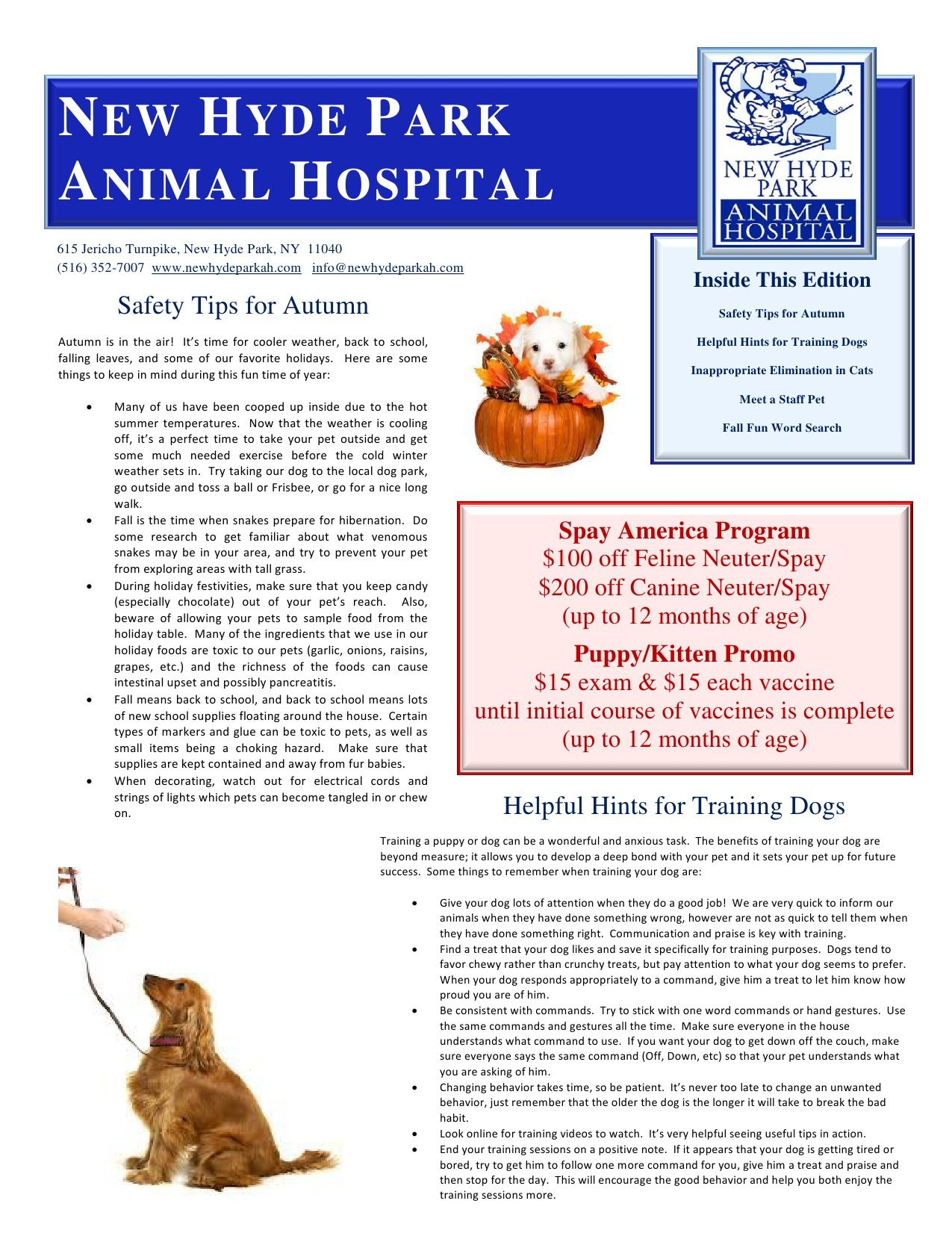 NHPAH Fall 2014 Newsletter Page 1