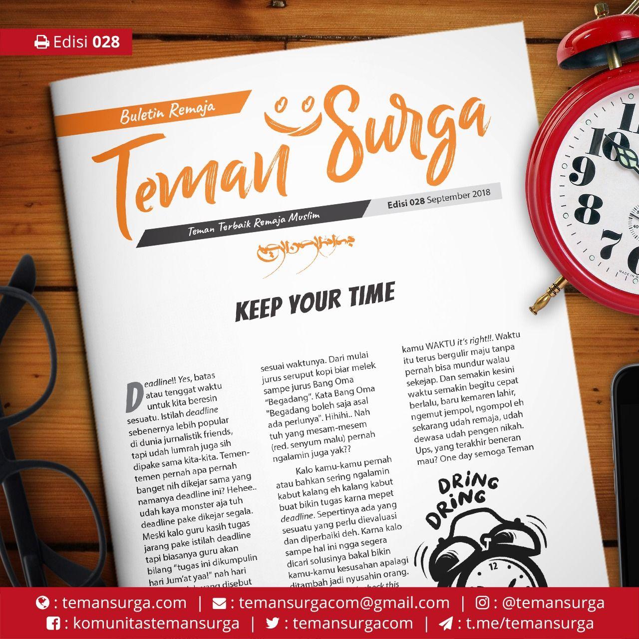 Buletin Teman Surga 028 Keep Your Time Remaja Waktu Kelahiran