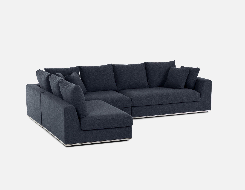 Horizon Canape D Angle Modulaire Bleu Fonce Modular Sectional Sofa Modular Sectional Sectional Sofa