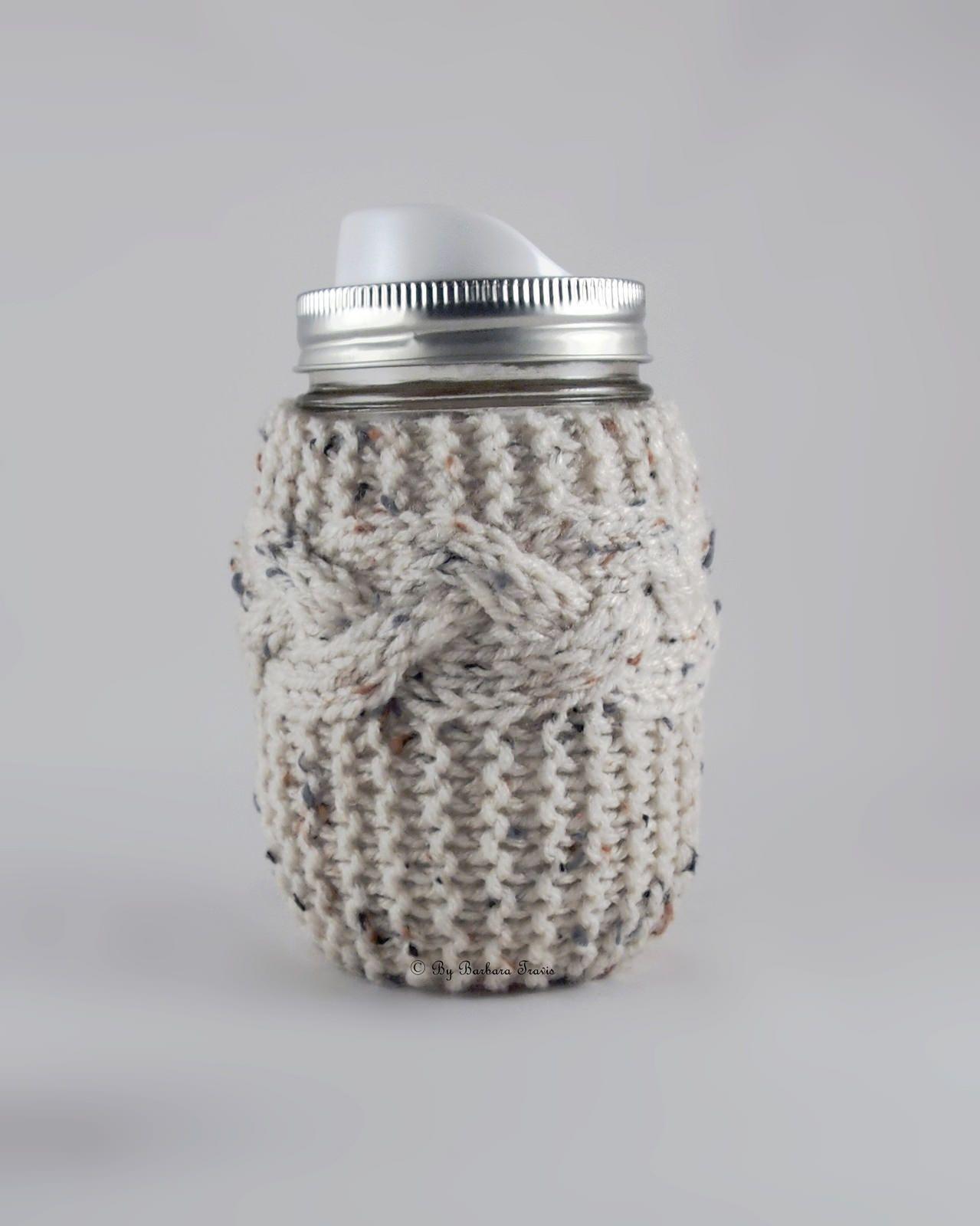 Simple Beauty: Knit Braided Cable Mason Jar Cozy   Pinterest