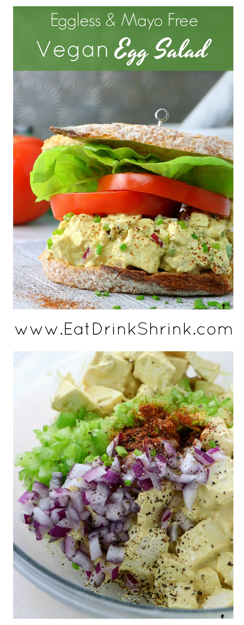 Vegan Eggless Mayo Free Egg Salad Eat Drink Shrink Drink Eat Egg Eggless Eiersalat Rezept Gesund Free Ma In 2020 Egg Salad Vegan Lunches Vegetarian Recipes
