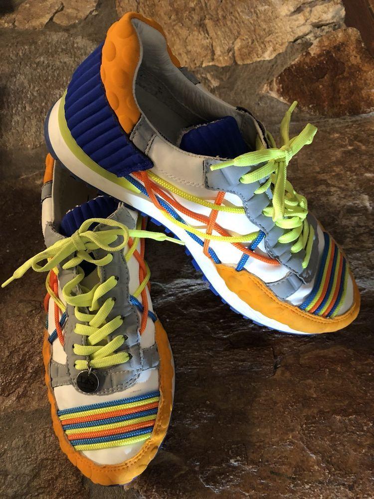 4b157e91bd0f Women Tennis Shoes Sneakers White  Orange  Blue  lime Green Size 8 1 ...