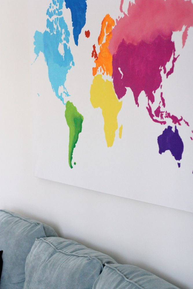 A watercolor world map crafty and craft everyday reading fun modern motherhood with a practical spin a watercolor world map gumiabroncs Images