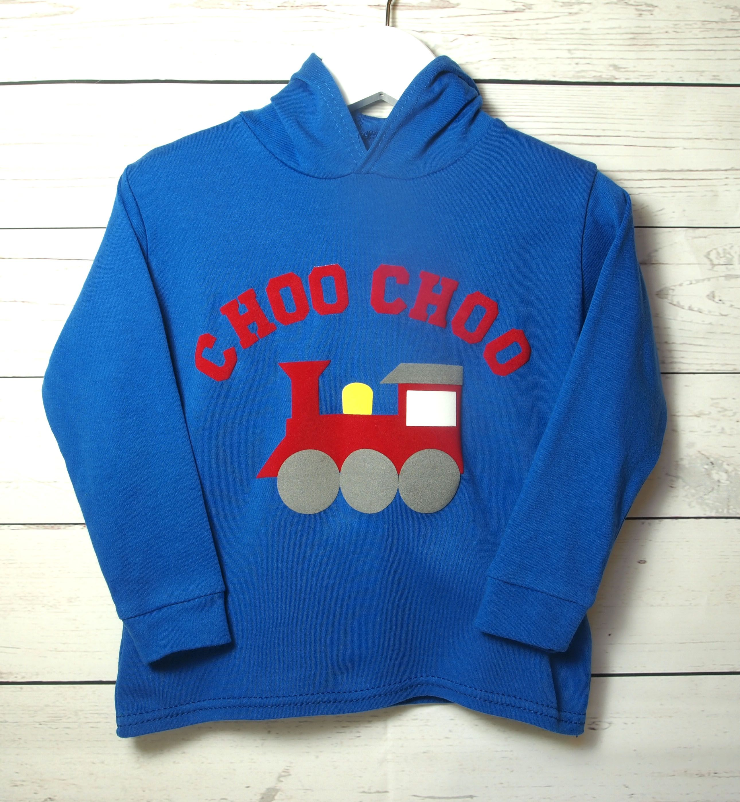 Personalised train hoodie blue kids toddler baby clothing unique baby toddler kids train hoodie jumper sweatshirt can be personalised for birthday gift or baby shower negle Gallery