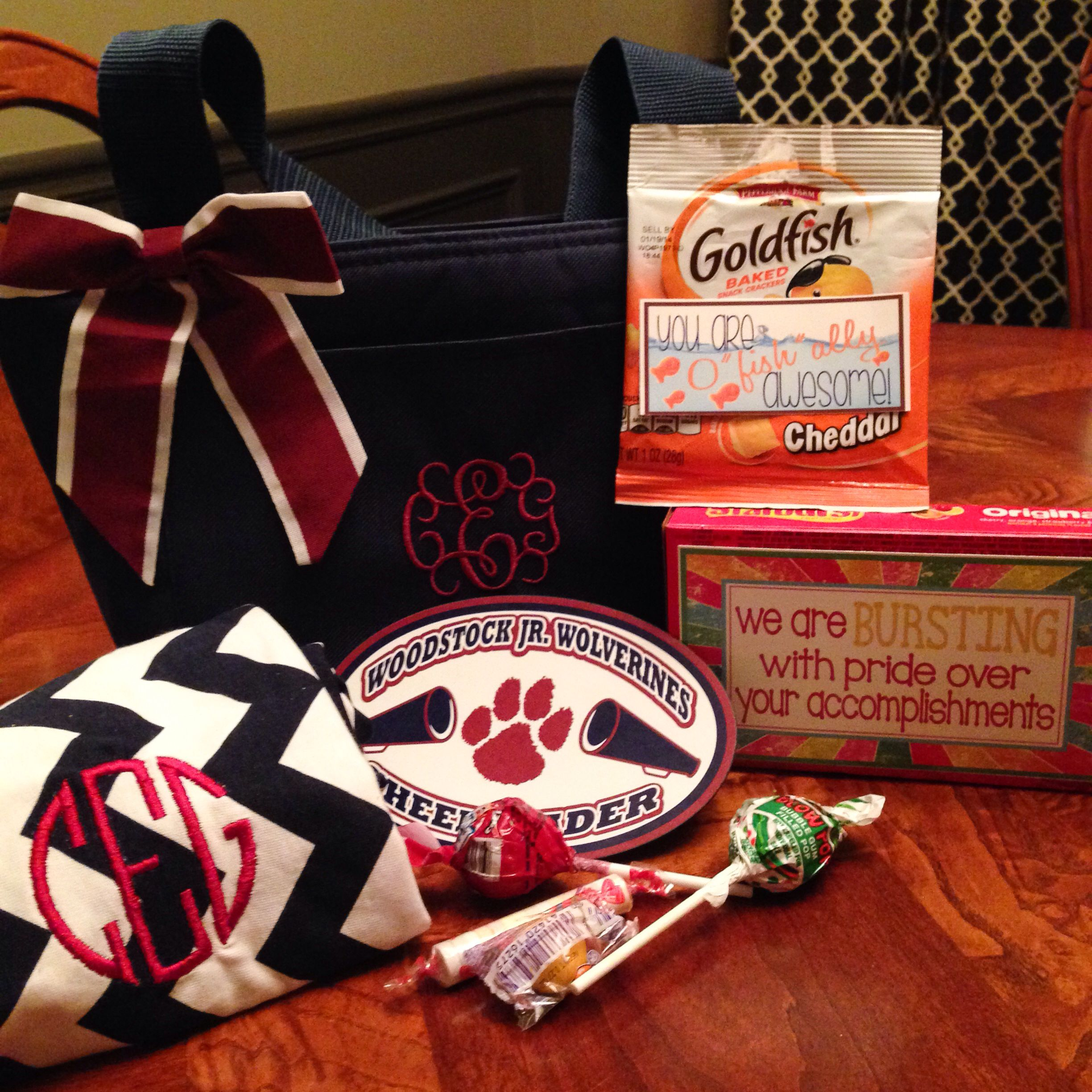Cheerleader treat bag gift ideas for Bedroom kandi swag bag