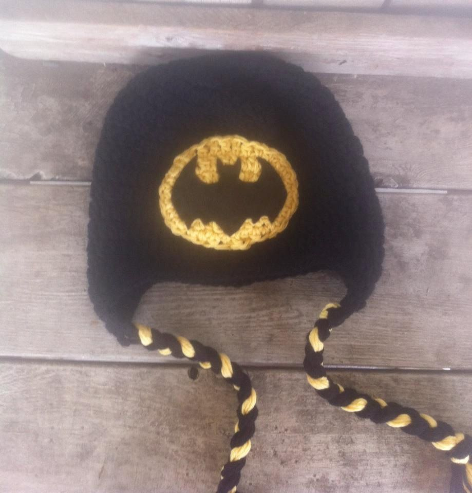 Batman Inspired Crochet Hat - Choose any size. $16.00, via Etsy.
