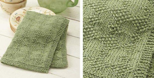 Knitted Dish Towel Patterns - www.klinikmedis.info | Dish ...