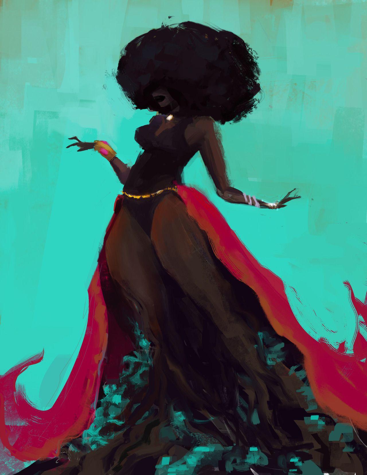 Sexy black women art