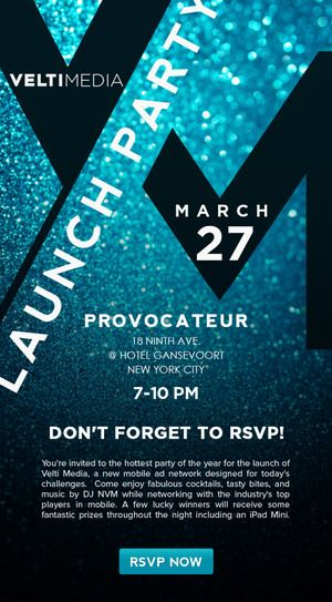 velti media launch party invitation