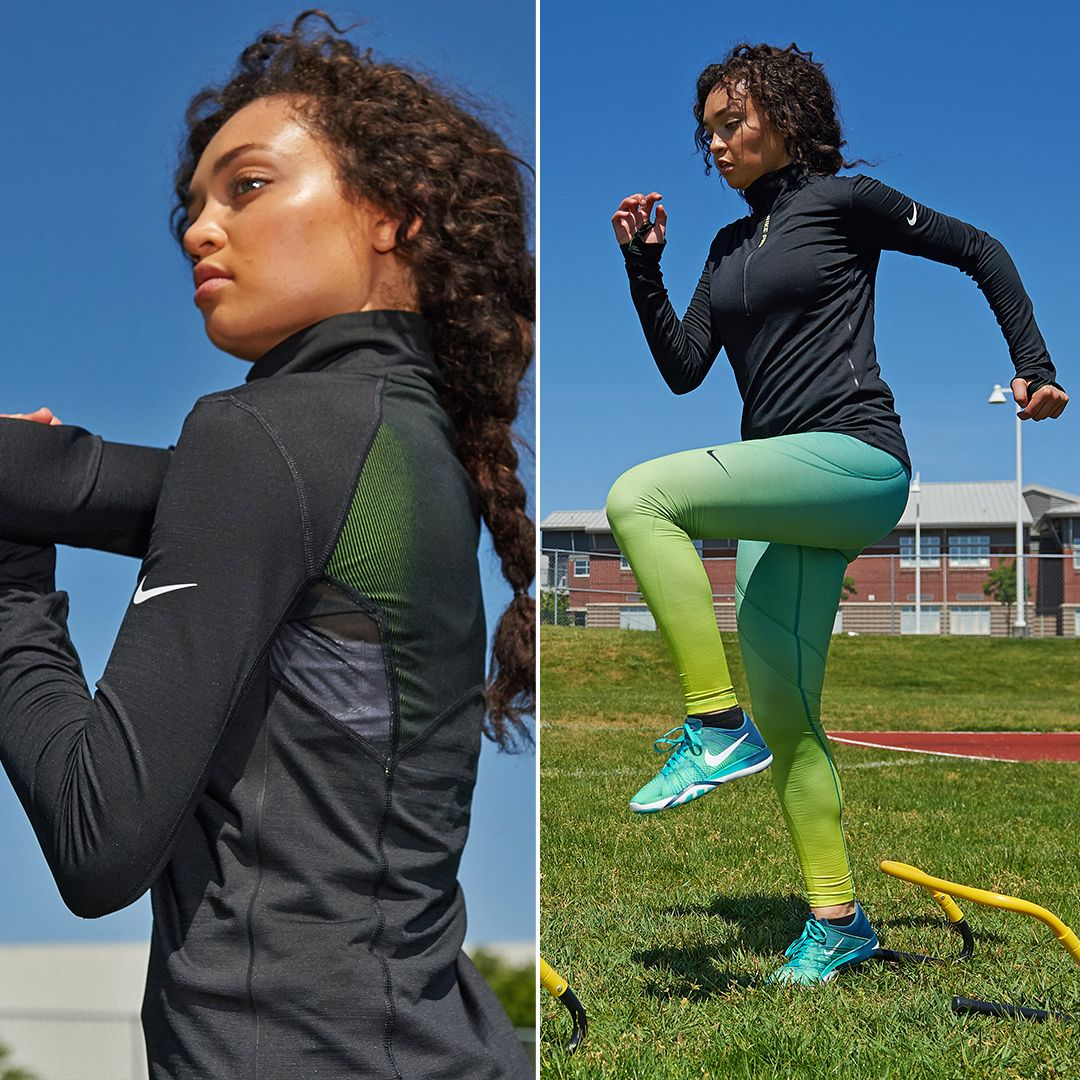 Keep your body warm and protected as temperatures drop this fall, with Nike women's Hyperwarm.