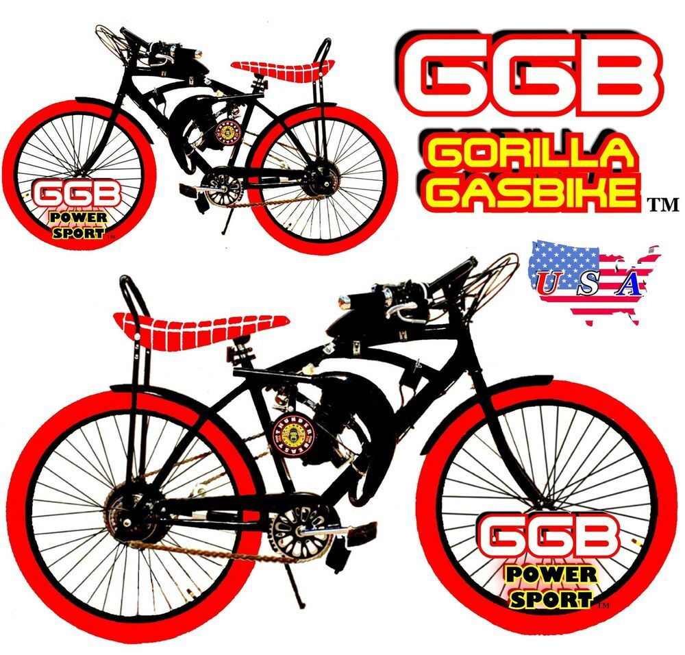 Details About 48cc 66cc 80cc 2 Stroke Motorized Bike Kit And 26