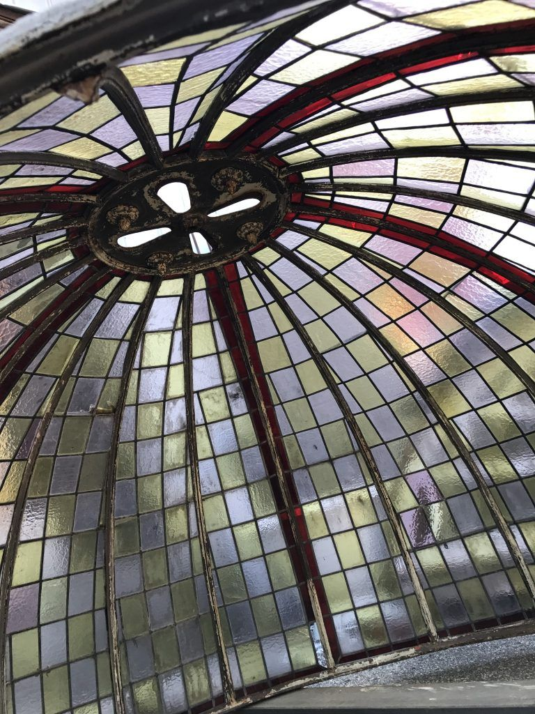 19th Century Stained Glass Dome Schillers Salvage Architectural