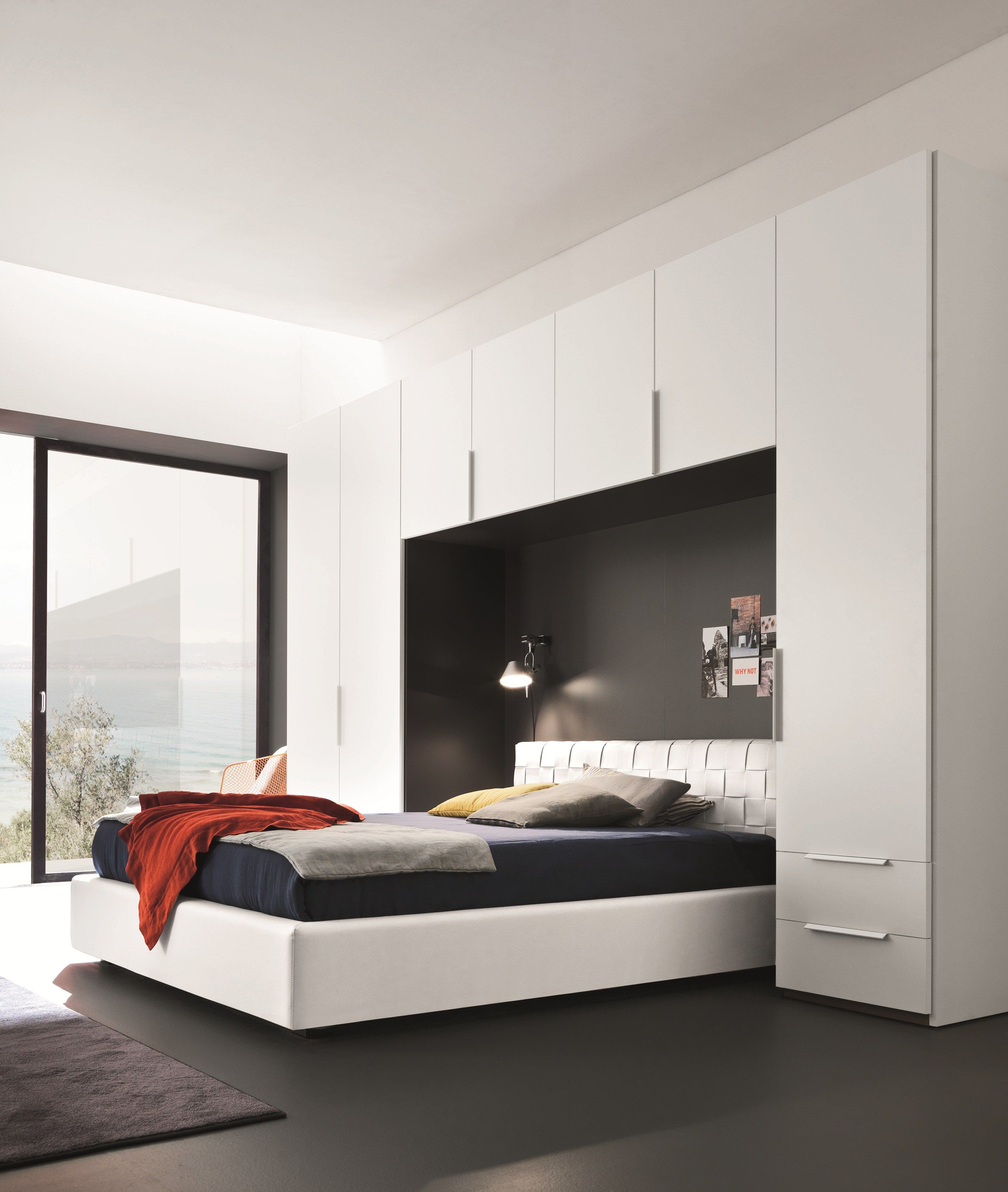 Armoire Pont De Lit Design Deco Chambre A Coucher Lit Chambre