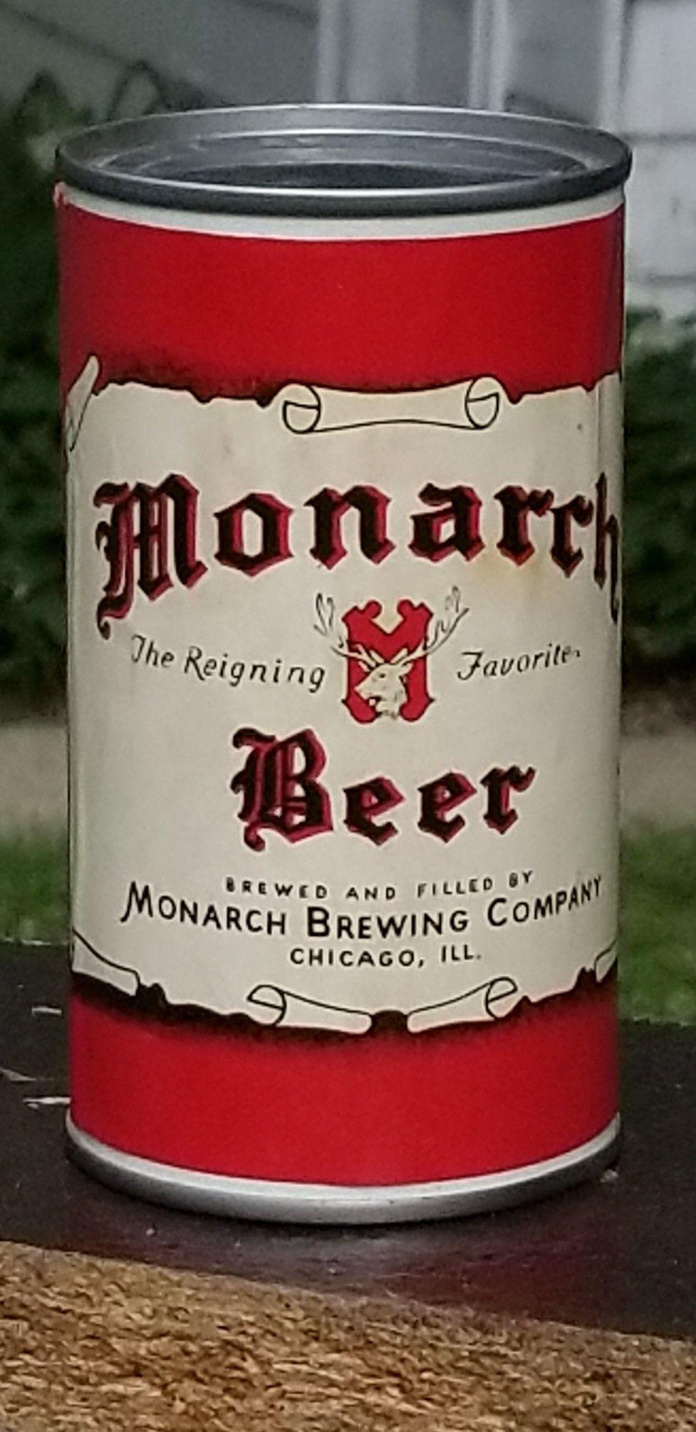 Monarch Beer Chicago Il 1954 Old Beer Cans Vintage Beer Beer Brands