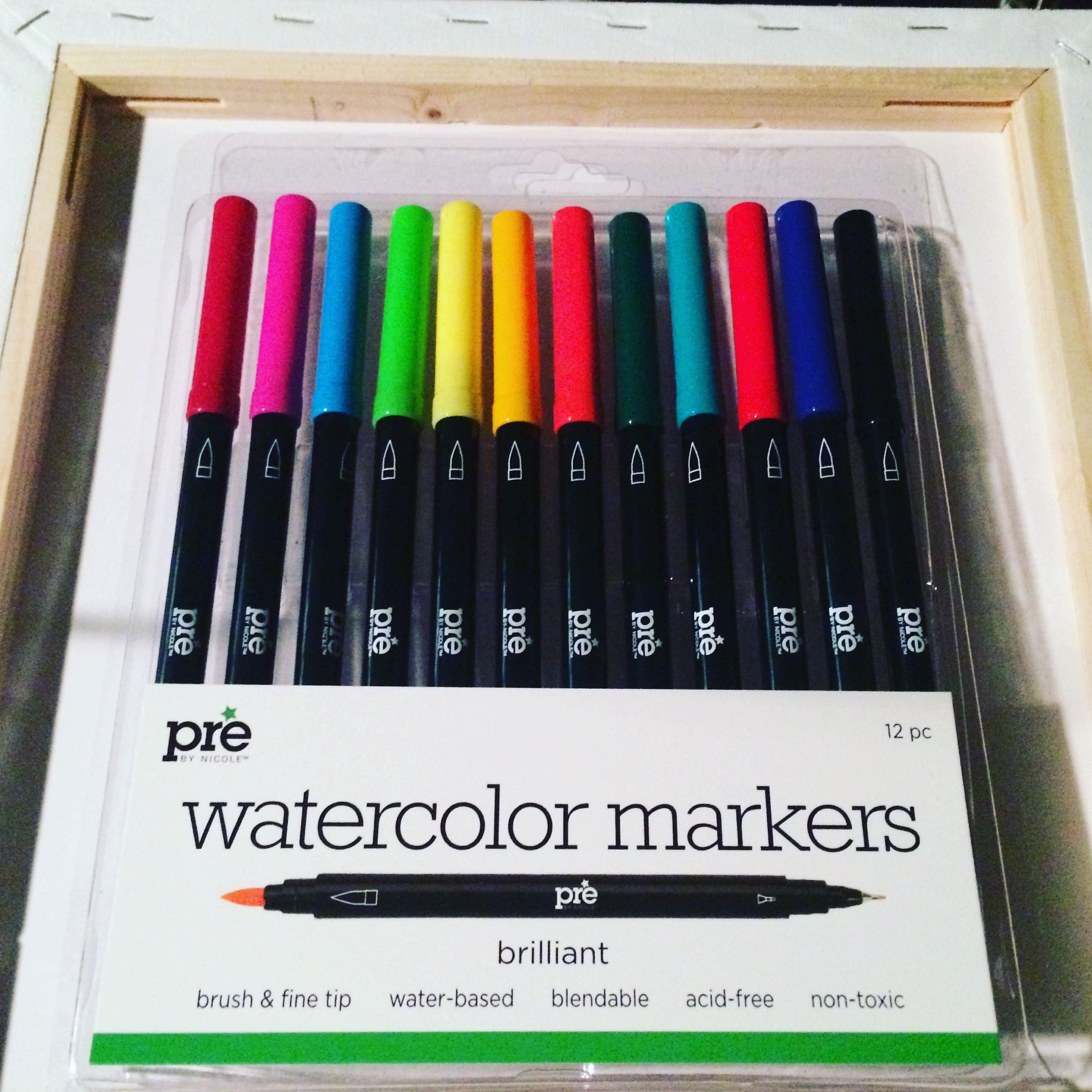 Watercolor Markers Markers Adult Coloring Watercolor