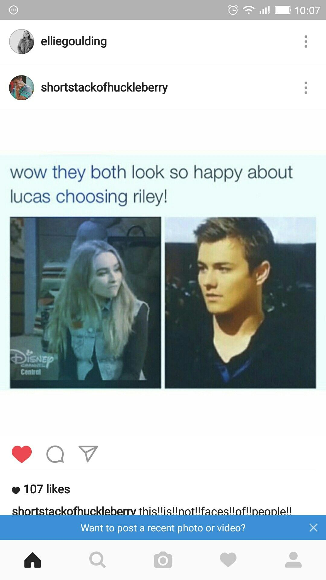 And that was also the face I made when he did. Lucaya Forevs