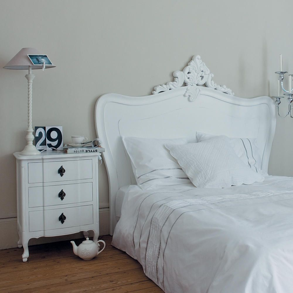 t te de lit blanche l160 bedroom pinterest lit 160 comte et tete de. Black Bedroom Furniture Sets. Home Design Ideas