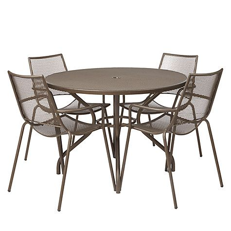 John Lewis Ala Mesh 4-Seater Garden Dining Table and Chairs Set