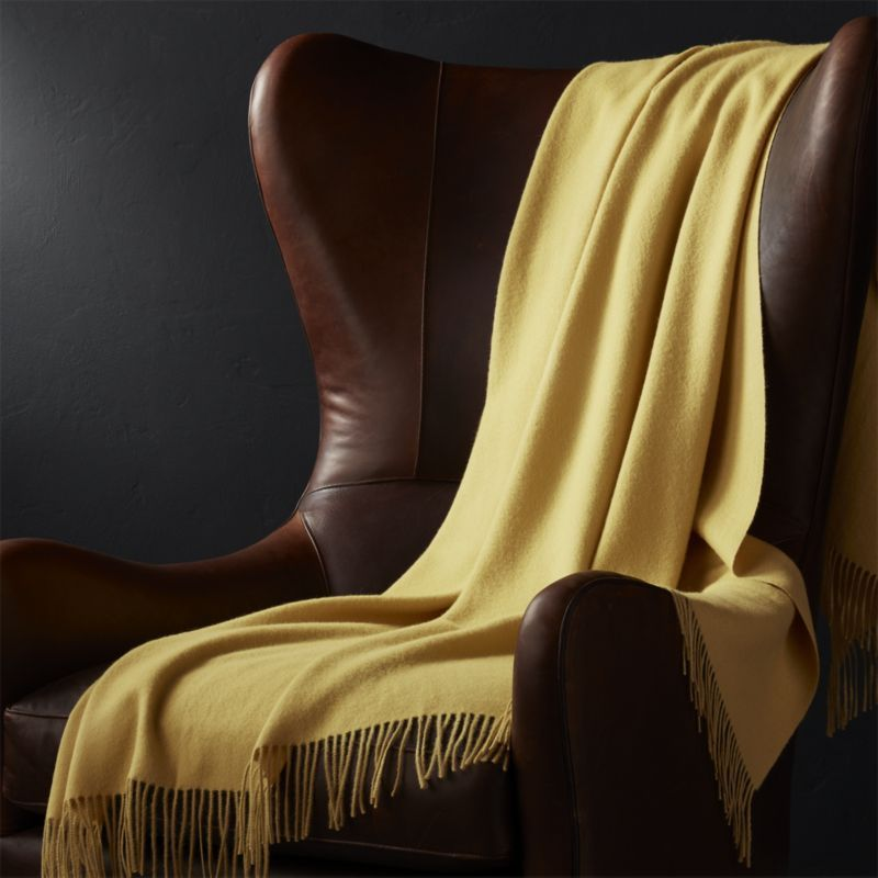Shop Yellow Throw Blanket Indulge in the warmth and luxury of