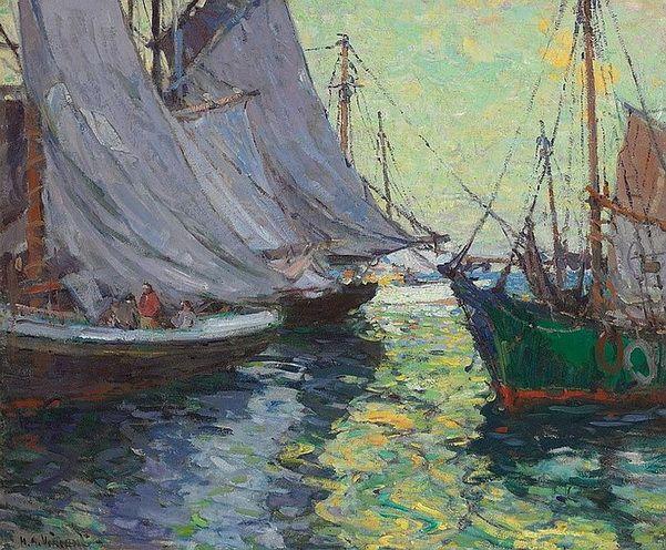 Harry Aiken Vincent - Boats, Gloucester Harbor