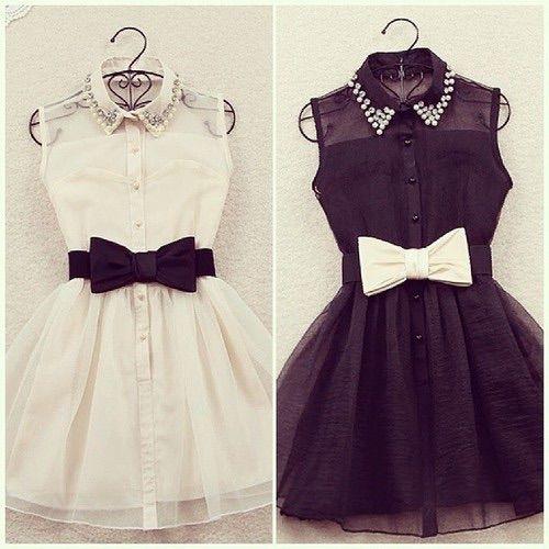 Image via We Heart It https://weheartit.com/entry/156038247/via/25280778 #black #blackandwhite #dress #nice #style #sweet #white #vestidos