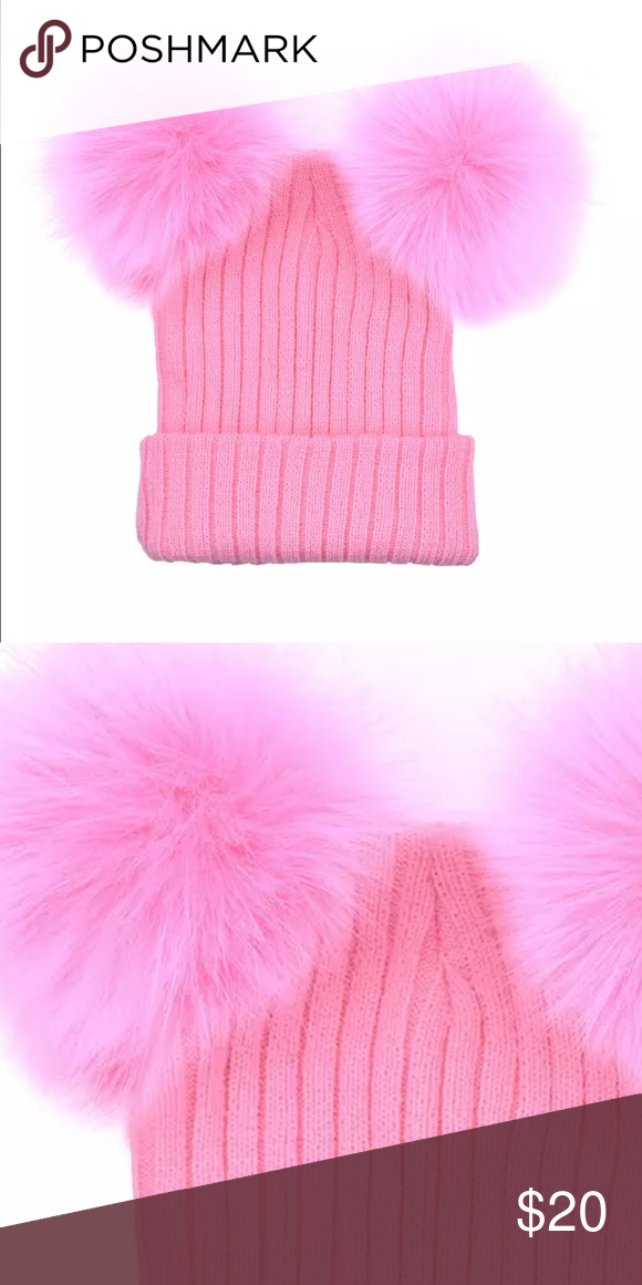 💋DOUBLE FUR POM POM BEANIE-KNIT HAT-NEW💋 💋LOOK WHAT JUST ARRIVED ... 2dd5a5410bf