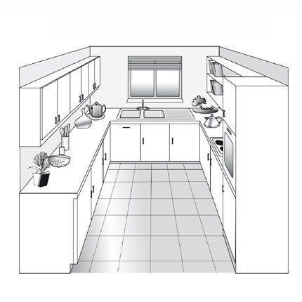 Plan De Cuisine Les Differents Types In 2020 Interior Design Kitchen Small Modern Kitchen Interiors Kitchen Design Small