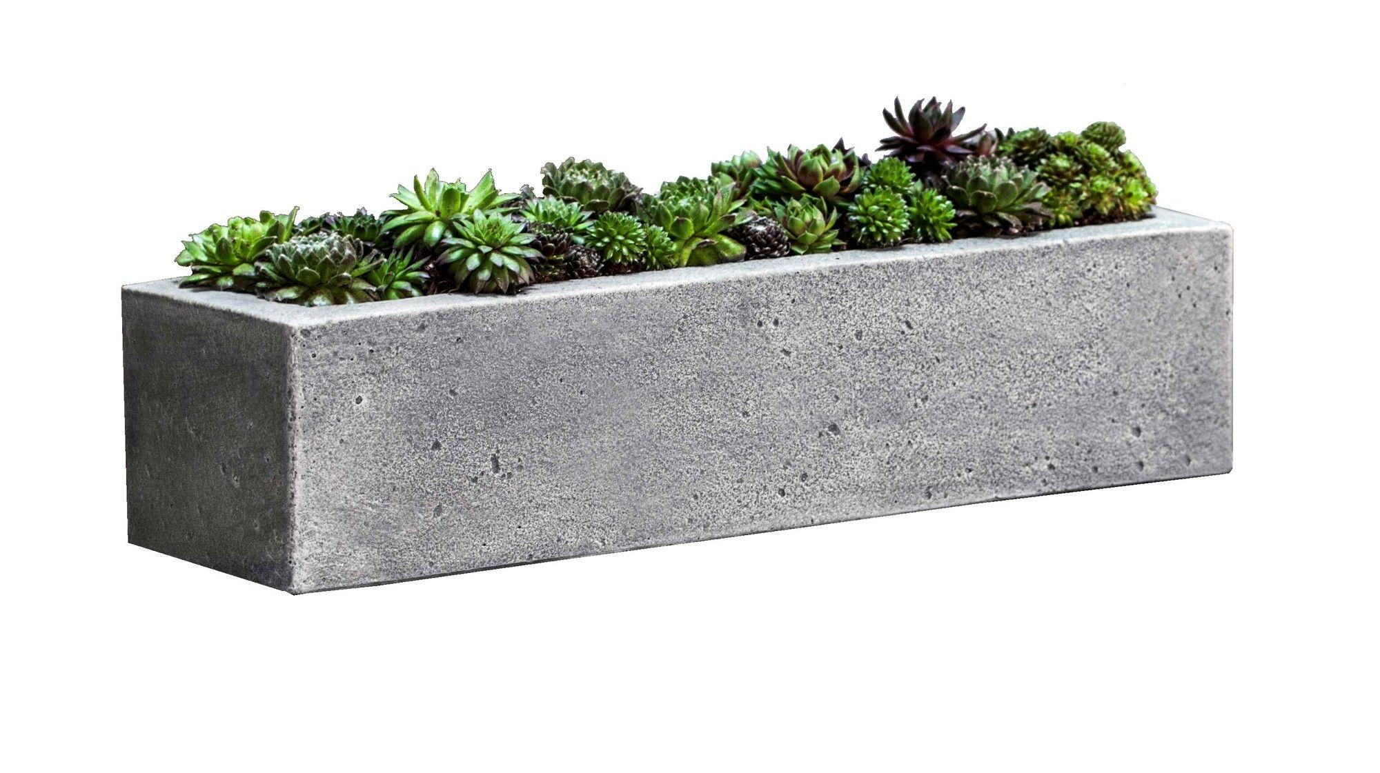 Georgina Rectangular Planter Box Concrete Pinterest # Muebles Georgina