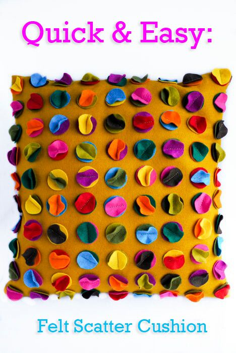 Quick & Easy: Felt Scatter Cushion