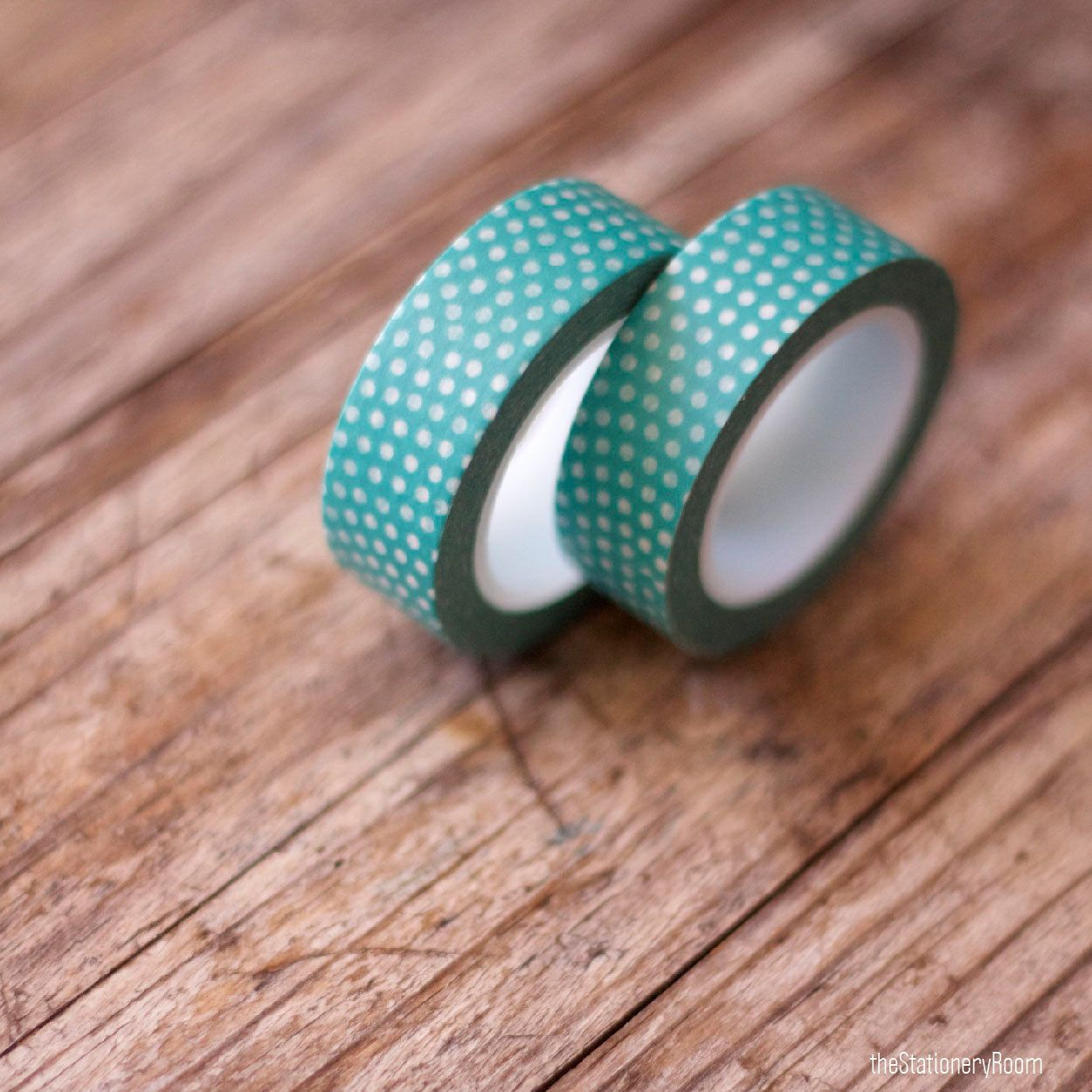 Japanese washi tape masking tape roll in aqua green and